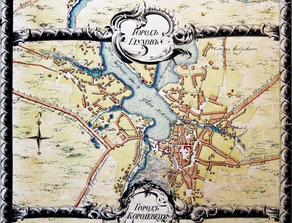 План Глухова з Карти Новгород-Сіверської губернії… 1784 р.jpg